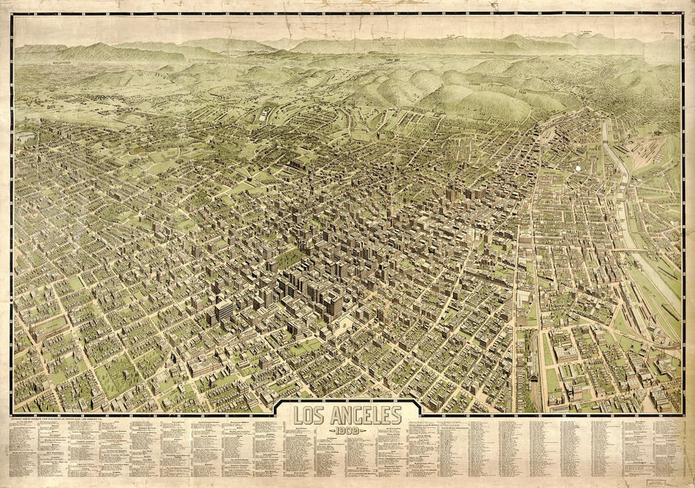 Los Angeles in 1909